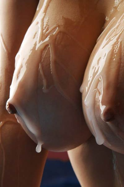 Model Namie Koshino in Covered in goo