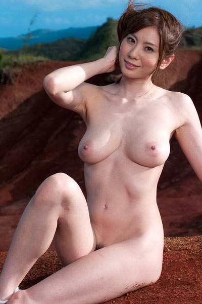 Model Yuma Asami in Red Sands