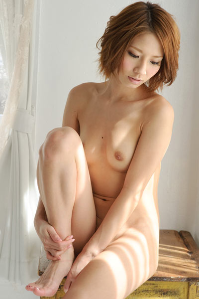 Model Risa Mizuki in His Apartment